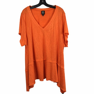 Primary Photo - BRAND: BOBEAU STYLE: TOP SHORT SLEEVE COLOR: ORANGE SIZE: 3X SKU: 283-283145-2592