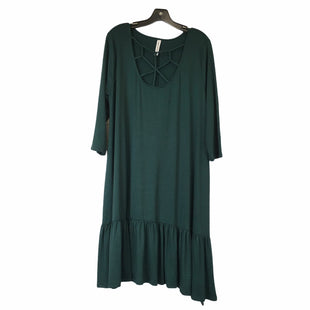 Primary Photo - BRAND: ZENANA OUTFITTERS STYLE: DRESS SHORT LONG SLEEVE COLOR: GREEN SIZE: 1X SKU: 283-283151-1789