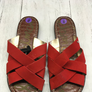 Primary Photo - BRAND: SAM EDELMAN STYLE: SANDALS FLAT COLOR: ORANGE SIZE: 8 OTHER INFO: AS IS SKU: 283-283104-7832