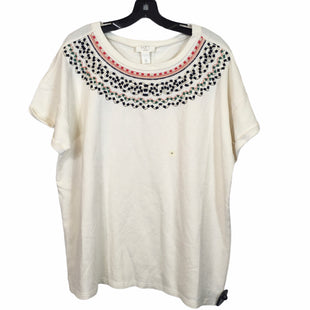 Primary Photo - BRAND: ANN TAYLOR LOFT O STYLE: TOP SHORT SLEEVE COLOR: CREAM SIZE: XL SKU: 283-28388-20591