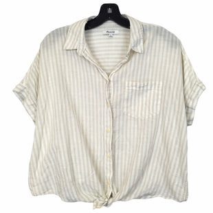 Primary Photo - BRAND: MADEWELL STYLE: TOP SHORT SLEEVE COLOR: CREAM SIZE: M SKU: 283-28388-27268