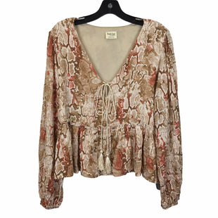 Primary Photo - BRAND: PEACH LOVE CREAM CALIFORNIA STYLE: TOP LONG SLEEVE COLOR: BROWN SIZE: S SKU: 283-28388-27490
