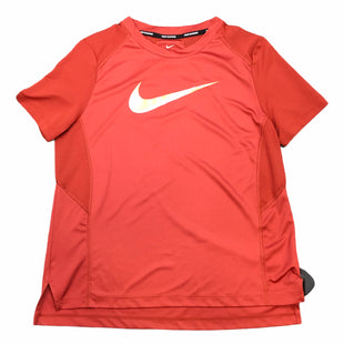 Primary Photo - BRAND: NIKE APPAREL STYLE: ATHLETIC TOP COLOR: ORANGE SIZE: M SKU: 283-283134-10509