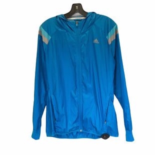Primary Photo - BRAND: ADIDAS STYLE: ATHLETIC JACKET COLOR: BLUE SIZE: M SKU: 283-28388-21636