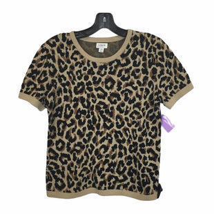 Primary Photo - BRAND: J CREW O STYLE: TOP SHORT SLEEVE COLOR: ANIMAL PRINT SIZE: XS SKU: 283-28388-26559