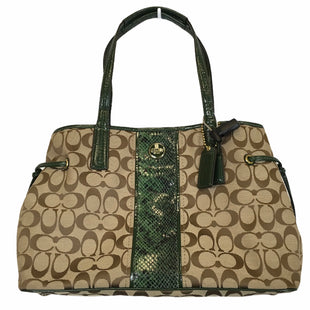 Primary Photo - BRAND: COACH STYLE: HANDBAG DESIGNER COLOR: GREEN SIZE: LARGE OTHER INFO: AS IS SKU: 283-283135-4808