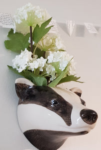 Badger Wall Vase by Quail (large)