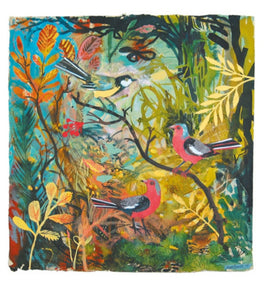Card - Great Tit and Chaffinches by Mark Hearld