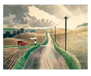 Card - Wiltshire Landscape (1937) by Eric Ravillious