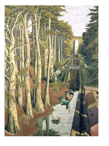 Card - View from a Canal Bridge by Simon Palmer