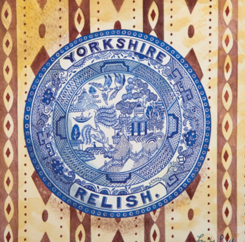 Card - Victorian Crockery 'Yorkshire Relish' by Emily Sutton