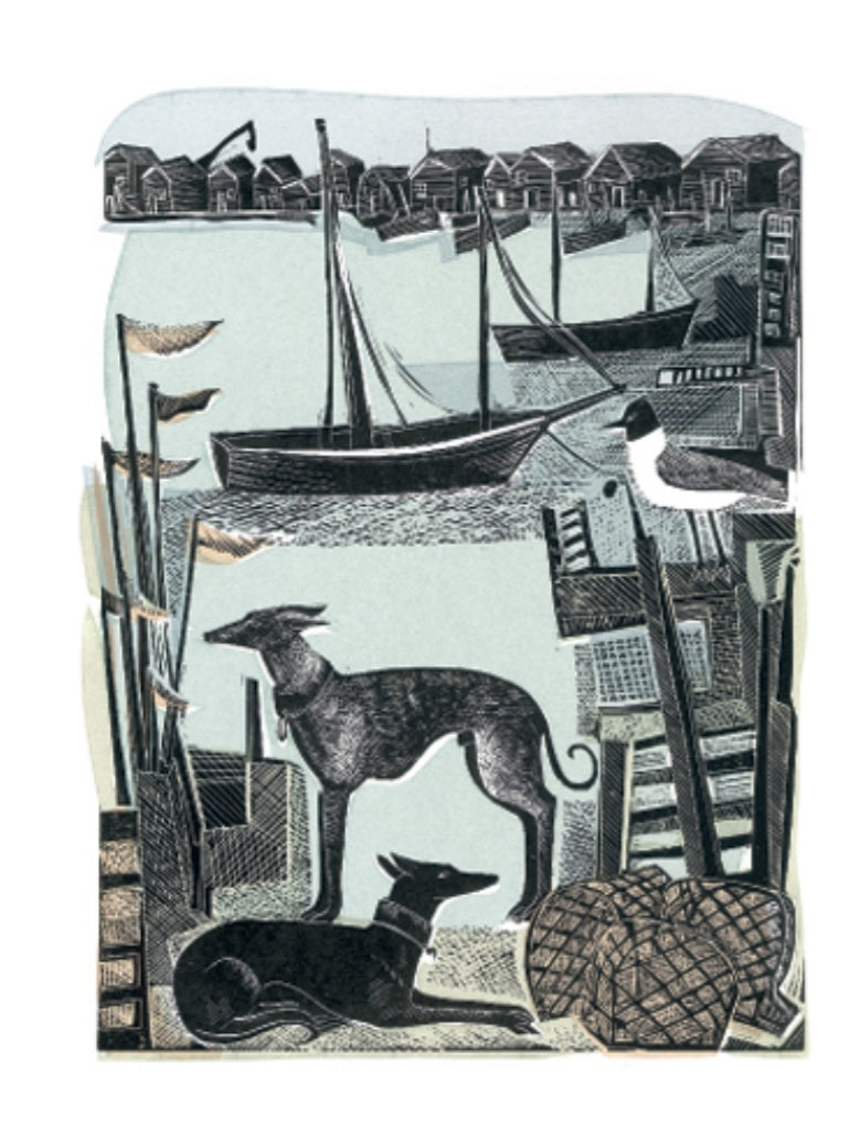 Card - Harbour Whippets by Angela Harding