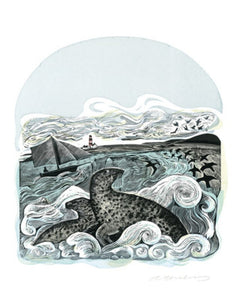 Card - Seals at Bardsey by Angela Harding