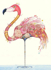 Card - Flamingo by Daniel Mackie