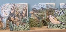 Load image into Gallery viewer, Card - Garden Birds - die-cut 3D by Angela Harding