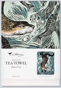 Angela Harding Tea Towel (Fishing Otter)