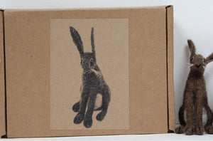 Brown Hare Needle Felting Kit