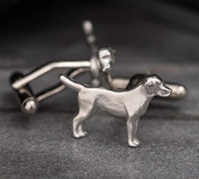 Load image into Gallery viewer, Pewter Cufflinks by Lancaster & Gibbings (Dog)