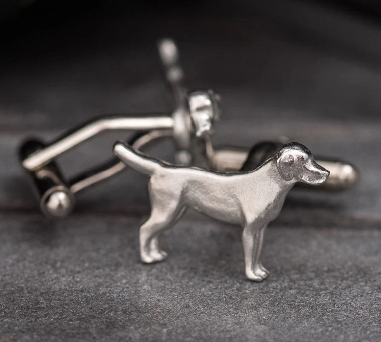 Pewter Cufflinks by Lancaster & Gibbings (Dog)