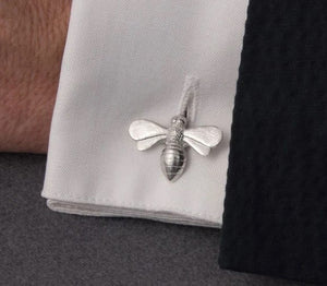 Pewter Cufflinks by Lancaster & Gibbings (Bee)
