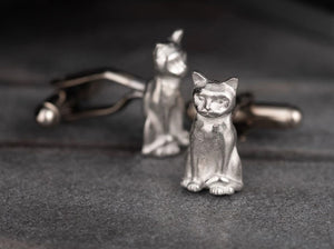 Pewter Cufflinks by Lancaster & Gibbings (Cat)