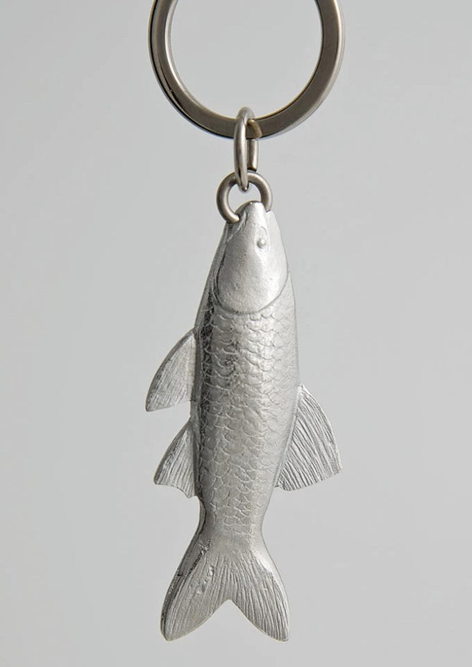 Pewter Key Ring by Lancaster & Gibbings (Fish)