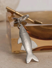 Load image into Gallery viewer, Pewter Key Ring by Lancaster & Gibbings (Fish)