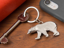 Load image into Gallery viewer, Pewter Key Ring by Lancaster & Gibbings (Polar Bear)