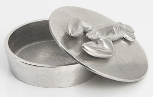 Tiny Pewter Trinket Box  by Lancaster & Gibbings (Lobster)