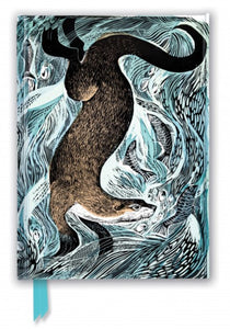 Angela Harding Foiled Journal (Fishing Otter)