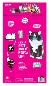 Pop Up Pet (Black & White Cat)