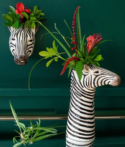 Zebra Flower Vase by Quail (large)