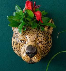 Leopard Wall Vase by Quail (large)