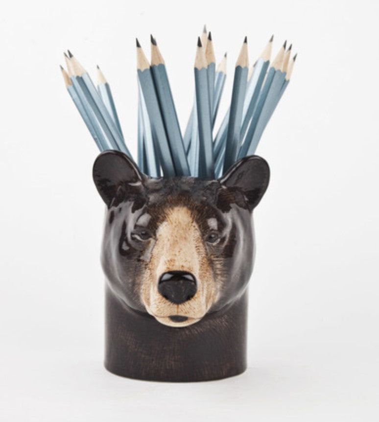 Brown Bear Pencil Pot by Quail