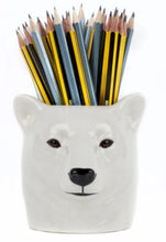 Load image into Gallery viewer, Polar Bear Pencil Pot by Quail
