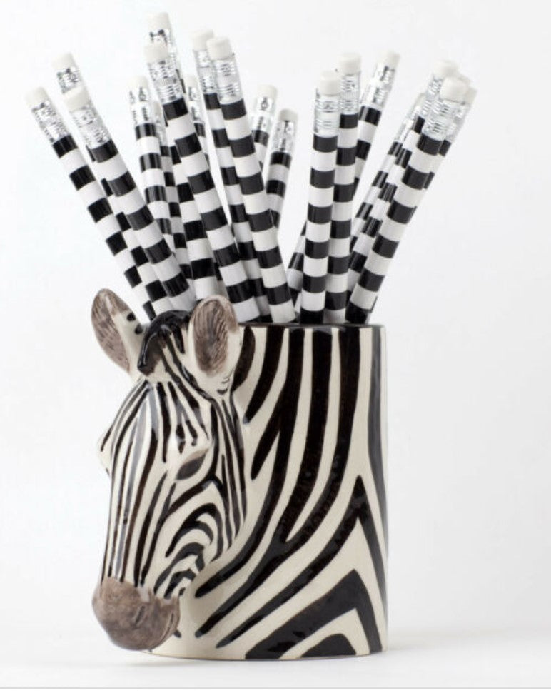 Zebra Pencil Pot by Quail
