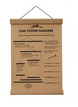 "Load image into Gallery viewer, Natural Oak Poster Hanger (20"") from Creamore Mill"
