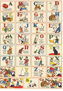 Cavallini  Nursery ABC Wrapping Paper Poster