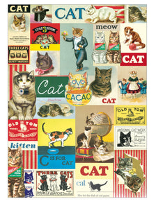 Cavallini Vintage Cats Wrapping Paper Poster