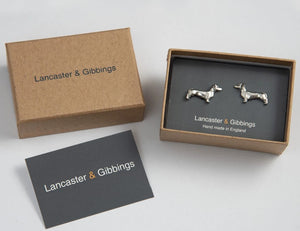 Pewter Cufflinks by Lancaster & Gibbings (Dachshund)