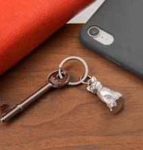 Load image into Gallery viewer, Pewter Key Ring by Lancaster & Gibbings  (Cat)