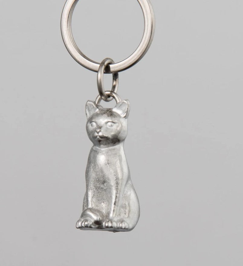 Pewter Key Ring by Lancaster & Gibbings  (Cat)