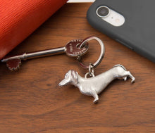 Load image into Gallery viewer, Pewter Key Ring by Lancaster & Gibbings  (Dachshund)
