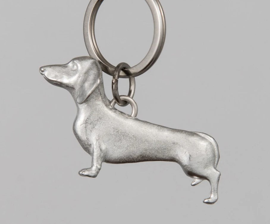 Pewter Key Ring by Lancaster & Gibbings  (Dachshund)