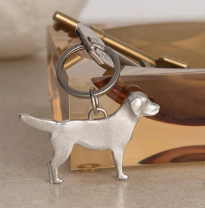 Pewter Key Ring by Lancaster & Gibbings (Dog)