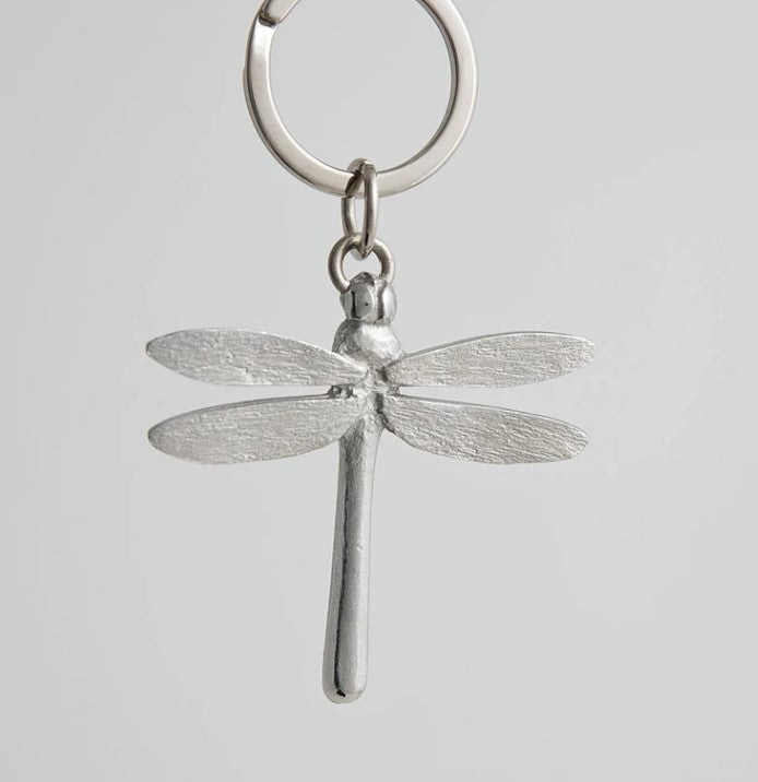 Pewter Key Ring by Lancaster & Gibbings (Dragonfly)