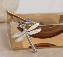 Load image into Gallery viewer, Pewter Key Ring by Lancaster & Gibbings (Dragonfly)