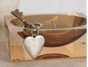 Pewter Key Ring by Lancaster & Gibbings  (Heart)
