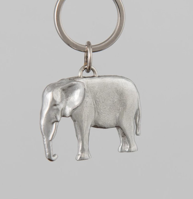 Pewter Key Ring by Lancaster & Gibbings (Elephant)