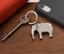 Load image into Gallery viewer, Pewter Key Ring by Lancaster & Gibbings (Elephant)